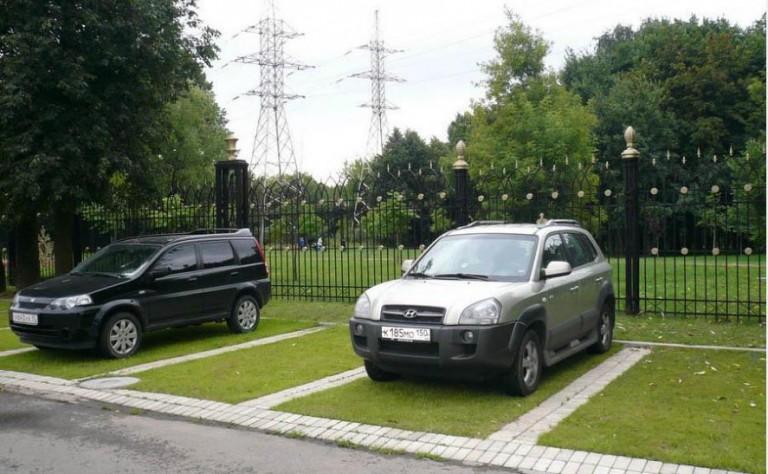 Зеленая парковка
